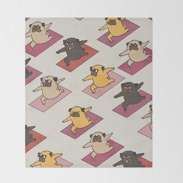 Pugs Warrior Throw Blanket