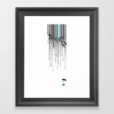 Raining zebra Framed Art Print