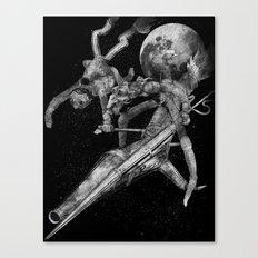 Don Quixote and Sancho. Canvas Print