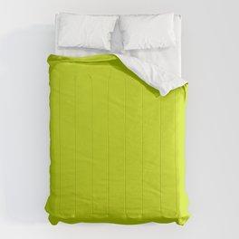 Solid neon green Comforters