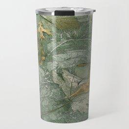 Leaves in Ice Travel Mug
