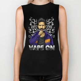 Vape On Illustration | Bearded Vaper | Mech Mod Biker Tank