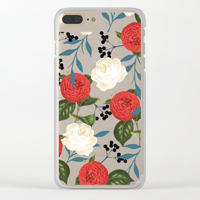 Floral Obsession #society6 #pattern #buyart Clear iPhone Case