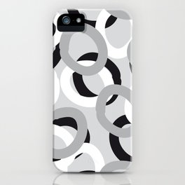 curly black, white, gray iPhone Case