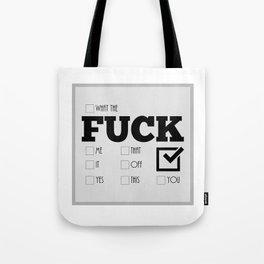 Optional Fucks Tote Bag