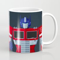 optimus prime Mugs featuring Autobots, Roll out! (Optimus Prime) by DWatson