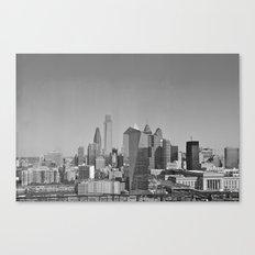 Black and White Philadelphia Skyline Canvas Print