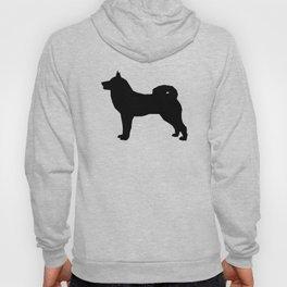 Akita silhouette dog breed pattern minimal dog art black and white akitas Hoody
