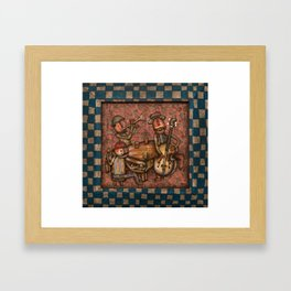 The Small Big Band Framed Art Print