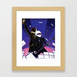 GET LUCKY Framed Art Print