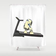 R2D2 color Shower Curtain