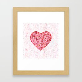 Round Heart Framed Art Print