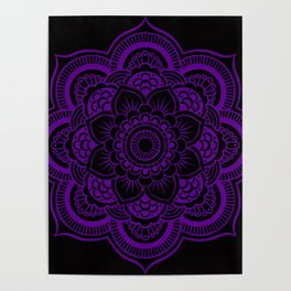 Deep Purple Mandala Poster