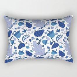 Autumn Forest in Light Blue Rectangular Pillow