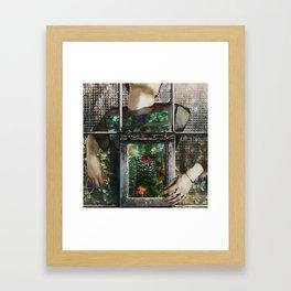 Keep safe what you have inside Framed Art Print