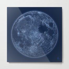 Dark Side of the Moon - Painting Metal Print