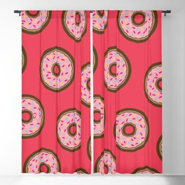 Pink Donut Pattern Blackout Curtain