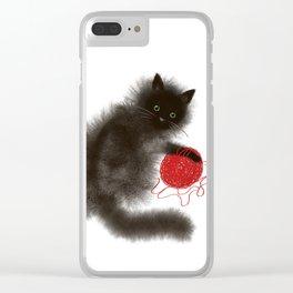 Mischievous cat Clear iPhone Case