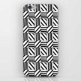 symetric tartan and gingham 16 -vichy, gingham,strip,square,geometric, sober,tartan iPhone Skin