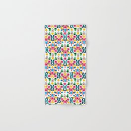 Colorful oriental watercolor floral pattern. Hand & Bath Towel