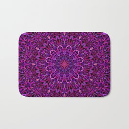 Pretty Purple Mandala Garden Bath Mat