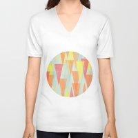 circus V-neck T-shirts featuring Circus by Menina Lisboa