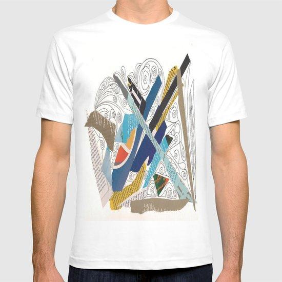 Multicolor collage doodle 501 T-shirt
