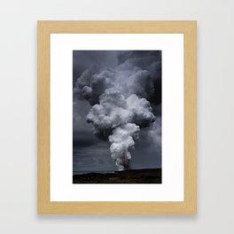 Kilauea Volcano at Kalapana 3 Framed Art Print