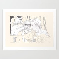 RIDING THE BUS WITH ED NORTON AND Andre Charles Art Print