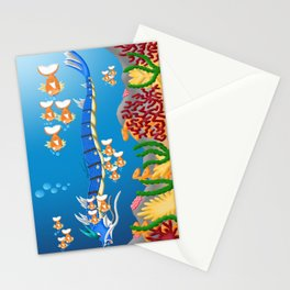 Serpent in the sea Stationery Cards