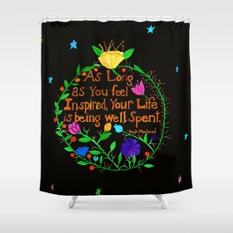 Live an Inspired Life V2 Shower Curtain