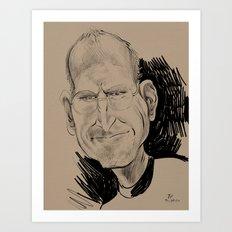 Steve Jobs (businessman, inventor) Art Print