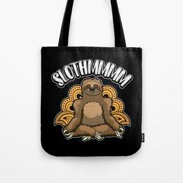 Slothmmmm - Yoga Sloth Meditates In Harmony Tote Bag
