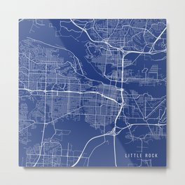 Little Rock, USA - Blue Metal Print