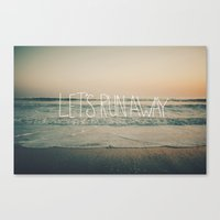 leah flores Canvas Prints featuring Let's Run Away by Laura Ruth and Leah Flores by Leah Flores