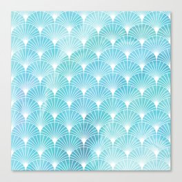Mermaid Fans: Ocean Mist Canvas Print