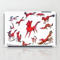 foxes iPad Cases featuring Foxes by Kit Seaton