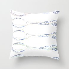 Abstracted spoons for all  Throw Pillow