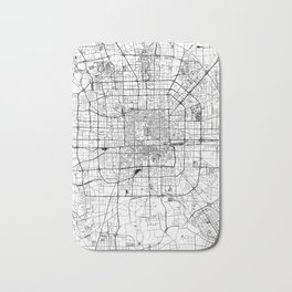 Beijing White Map Bath Mat