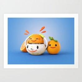 Happy Squeezer Art Print