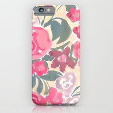 Cream Floral Slim Case iPhone 6s