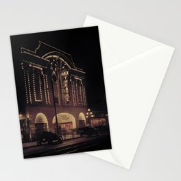 Rex Theatre at Night, Vancouver 1914. Stationery Cards
