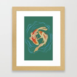 Twin Koi II Framed Art Print