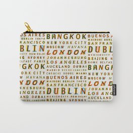 Travel World Cities Carry-All Pouch