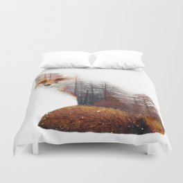 Misty Fox Duvet Cover