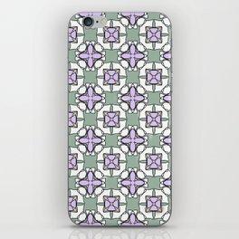 Lilac green tiles iPhone Skin