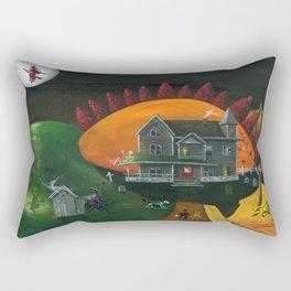 Hilly Haunted House Rectangular Pillow