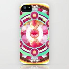Pink and Turquoise Mandala iPhone Case