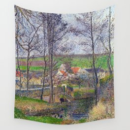 Camille Pissarro Banks of the Viosne Wall Tapestry