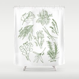 Herbs Shower Curtain
